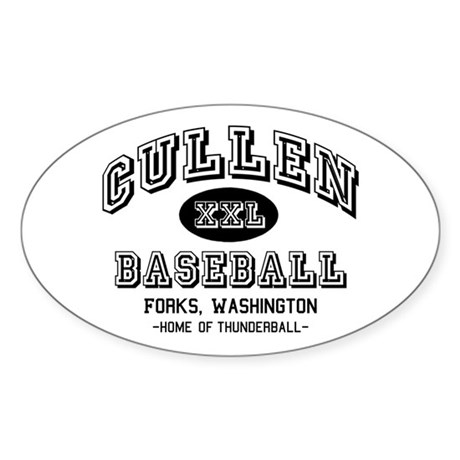 Cullen Baseball Oval Sticker (50 pk)