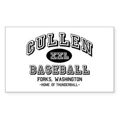 Cullen Baseball Rectangle Sticker