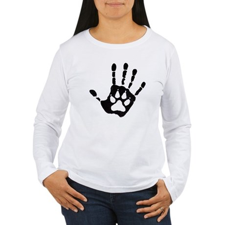 Human/Werewolf Print Women's Long Sleeve T-Shirt