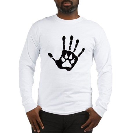 Human/Werewolf Print Long Sleeve T-Shirt