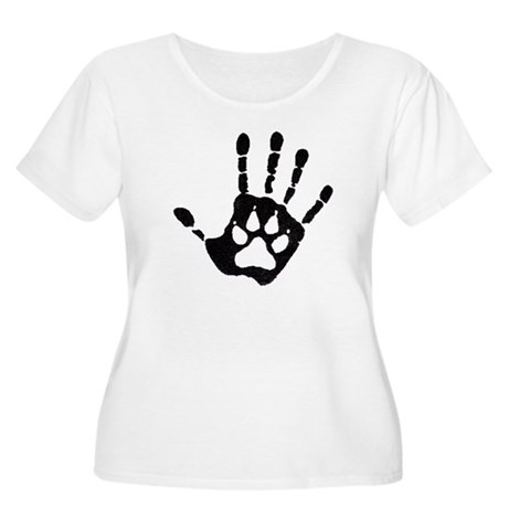Human/Werewolf Print Women's Plus Size Scoop Neck
