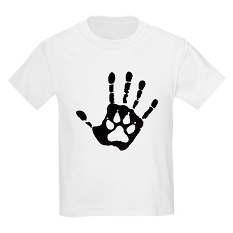 Human/Werewolf Print Kids Light T-Shirt