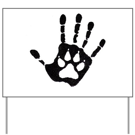 Human/Werewolf Print Yard Sign