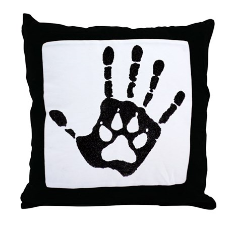 Human/Werewolf Print Throw Pillow
