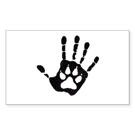 Human/Werewolf Print Rectangle Sticker 50 pk)