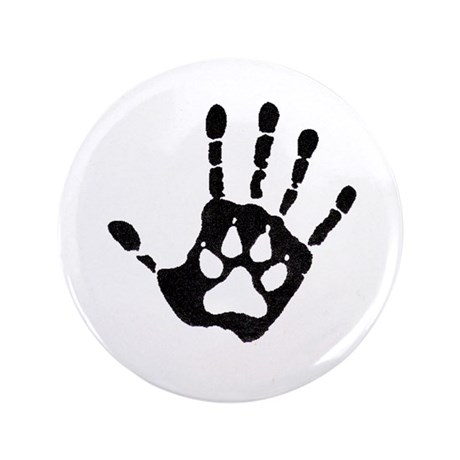 "Human/Werewolf Print 3.5"" Button (100 pack)"
