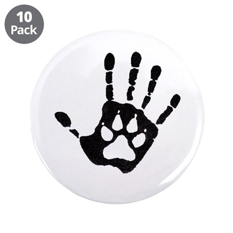"Human/Werewolf Print 3.5"" Button (10 pack)"