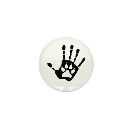 Human/Werewolf Print Mini Button (100 pack)