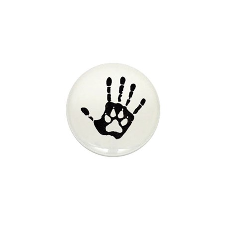 Human/Werewolf Print Mini Button