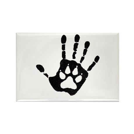 Human/Werewolf Print Rectangle Magnet
