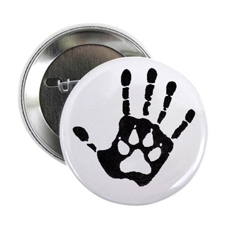 "Human/Werewolf Print 2.25"" Button (10 pack)"