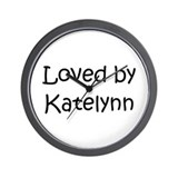 Cute Katelynn Wall Clock