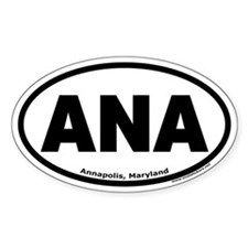 "Annapolis, Maryland ""ANA"" Oval Decal"