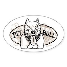 Nice Pitbull Oval Decal