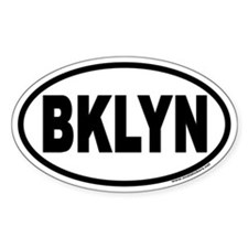 Brooklyn, New York BKLYN Euro Oval Decal