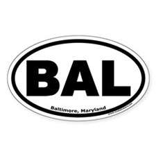 "Baltimore, Maryland ""BAL"" Oval Decal"