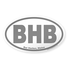 Bar Harbor, Maine BHB Oval Decal