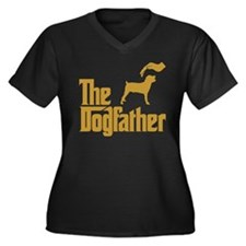 Boerboel Women's Plus Size V-Neck Dark T-Shirt