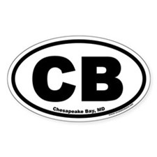 Chesapeake Bay, MD CB Oval Decal