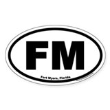 Fort Myers, Florida FM Oval Decal