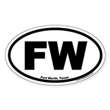 Fort Worth, Texas FW Oval Decal