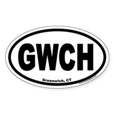 Greenwich, CT Oval Euro Decal