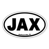 Jacksonville, FL &quot;JAX&quot; Euro Style Oval Decal
