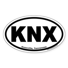 "Knoxville, Tennessee ""KNX"" Oval Decal"