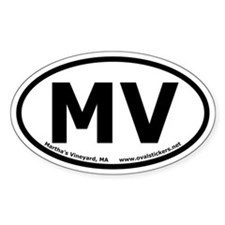 Martha's Vineyard Oval Car Decal