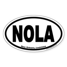 "New Orleans, Louisiana ""NOLA"" Oval Decal"