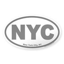 New York City NYC Oval Decal