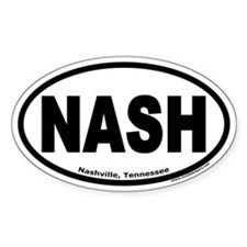 "Nashville, Tennessee ""NASH"" Oval Decal"