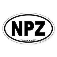 Naples, Florida NPZ Oval Decal