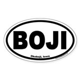 "Okoboji, Iowa ""BOJI"" Euro Style Oval Decal"