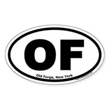 "Old Forge, New York ""OF"" Oval Decal"