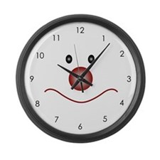 Happy Chops Large Wall Clock