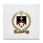 RIVARD Family Crest Tile Coaster