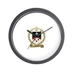 RIVARD Family Crest Wall Clock