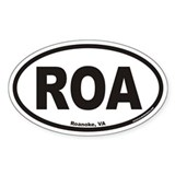 Roanoke Virginia ROA Euro Oval Decal