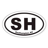 Southampton New York SH Euro Oval Decal