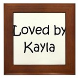 Cute Kayla Framed Tile