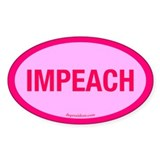 Pink Impeach Oval Decal