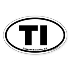 Thousand Islands NY TI Euro Oval Decal