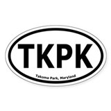 Takoma Park, Maryland Oval Bumper Decal