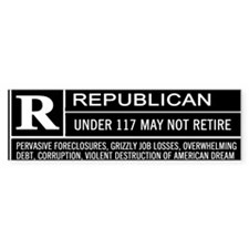 Rated R for Republican Bumper Bumper Sticker