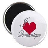 I love (heart) Dominique Magnet