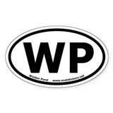 "Walden Pond ""WP"" Oval Car Decal"