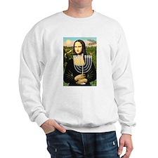 Mona Lisa's Menorah Sweatshirt