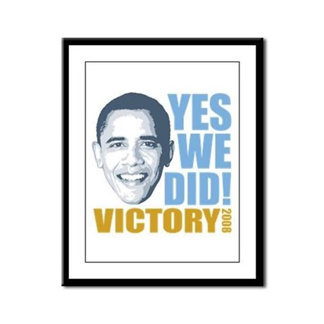 Yes We Did VICTORY Framed Panel Print