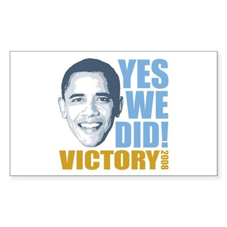 Yes We Did VICTORY Rectangle Sticker 50 pk)